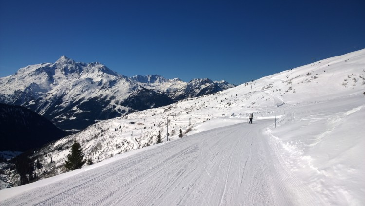 La Rosiere; on the slopes