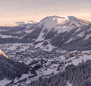 the resort of chatel in the portes du soleil
