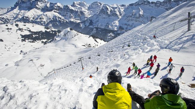 The Swiss Wall - Le Pas de Chavanette; accessible from Les Crosets