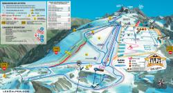 Les 2 Alpes Summer Piste Map