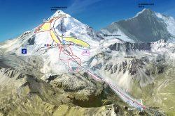 Tignes Glacier Piste Map