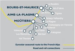 Eurostar Snow Train Stations