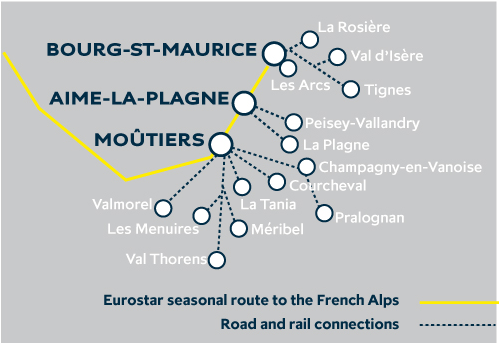 Eurostar Snow Train Stations