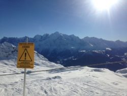 Stunning views of Mont Blanc from Flaine