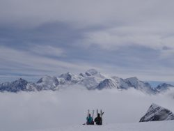 Picnic in front of Mont Blanc - Les Carroz