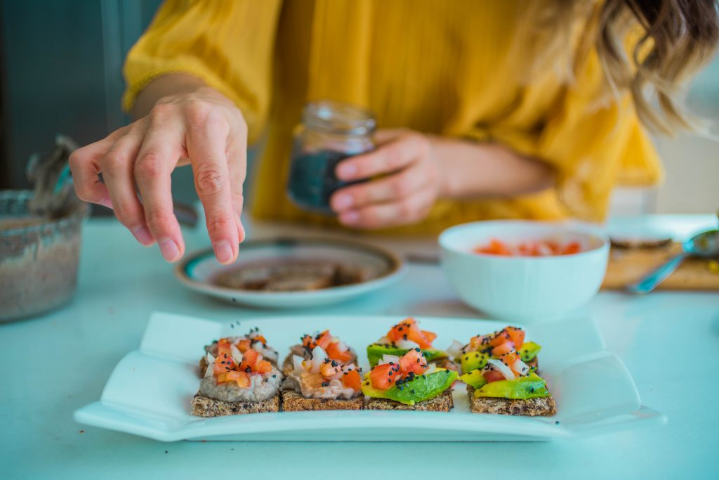 Selection of canapes - Dining out in Les Gets